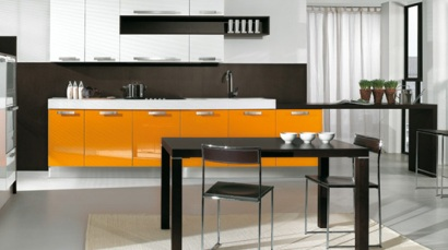 Intrex Arredo3 kök i orange