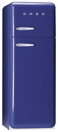 Knallblåa kylskåp från Smeg.