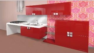 Bilden visar ett kök från Tecno Cucina