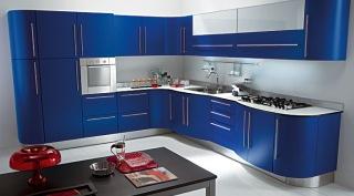 Blått kök från Vismap köper du genom Vabene. Modellen heter Nicole.