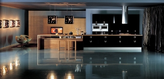 Glitter & glamour i ett kök från italienska Comprex