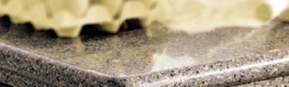 Bilden är hämtad från Silestones hemsida och visar en typ av kantfasning på skivan Negro Ulises